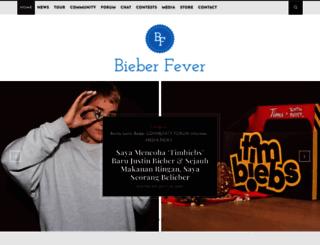 bieberfever.com screenshot
