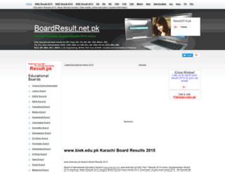biek.boardresult.net.pk screenshot
