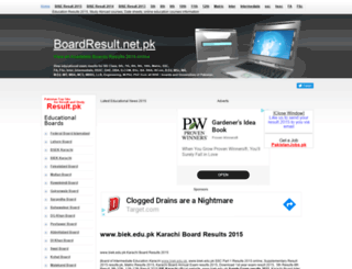 biek.boardresult.pk screenshot