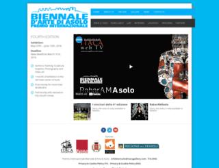 biennaleasolo.org screenshot