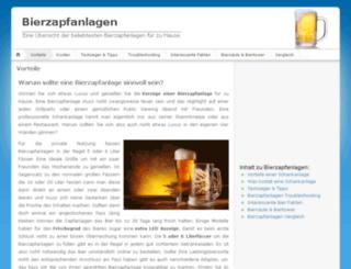 bier-zapfanlagen.info screenshot