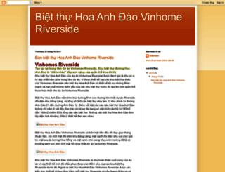 bietthuvinhomeriveside.blogspot.com screenshot