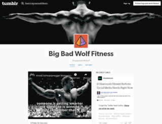 big-bad-wolf-fitness.tumblr.com screenshot