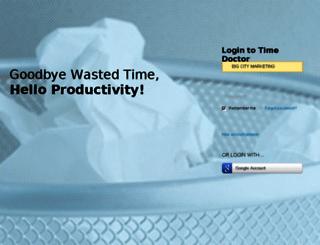 bigcitymarketing.timedoctor.com screenshot