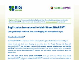 bigcrumbs.com screenshot