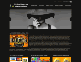 bigheadshop.com screenshot