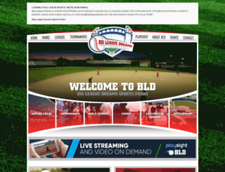 bigleaguedreams.com screenshot