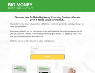 bigmoneybusinesscoach.com screenshot