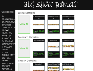 bigshowdomains.com screenshot