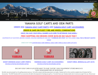 bigskygolfcars.com screenshot