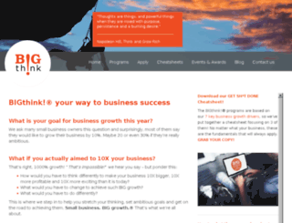 bigthinkbusinessbooster.com.au screenshot