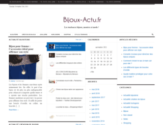 bijoux-actu.fr screenshot