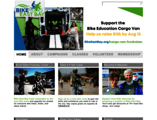 bikeeastbay.org screenshot