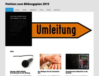 bildungsplan2015.de screenshot