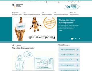 bildungspraemie.de screenshot