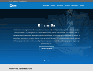 billans.ba screenshot