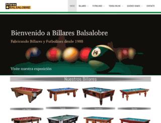 billaresbalsalobre.com screenshot