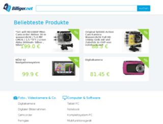 billiger.net screenshot