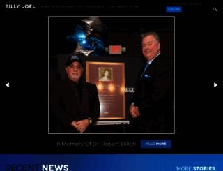 billyjoel.com screenshot
