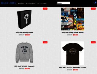 billyjoel.rockandrolltshirts.com screenshot
