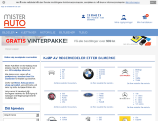 bilmerker.mister-auto.no screenshot