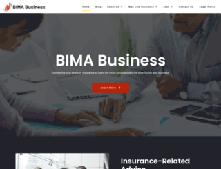 bimabusiness.com screenshot