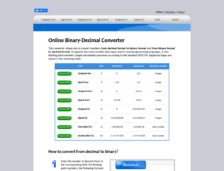 binaryconvert.com screenshot