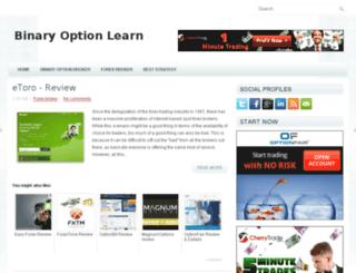 binaryoptionlearn.com screenshot