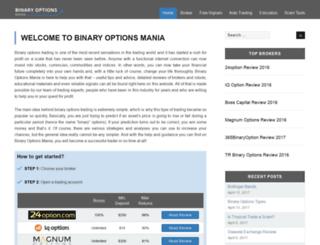 binaryoptionsmania.com screenshot