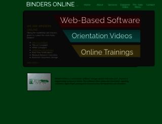 bindersonline.com screenshot