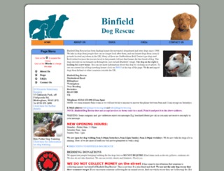 binfield.dogrescues.org screenshot