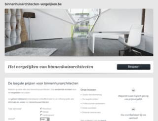 binnenhuisarchitecten-vergelijken.be screenshot