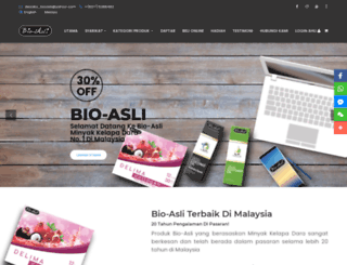 bio-asli.com screenshot