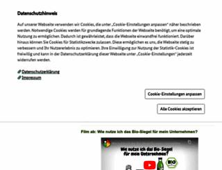 bio-siegel.de screenshot