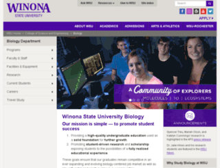 bio.winona.edu screenshot
