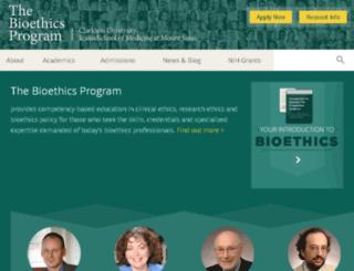 bioethics.uniongraduatecollege.edu screenshot