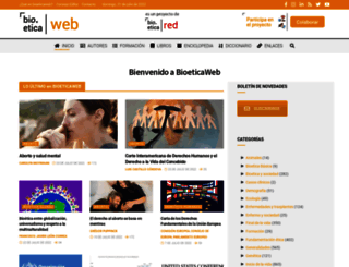 bioeticaweb.com screenshot