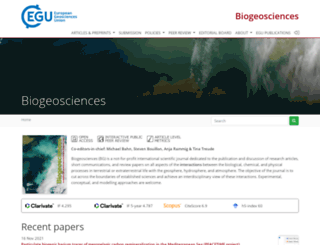 biogeosciences.net screenshot