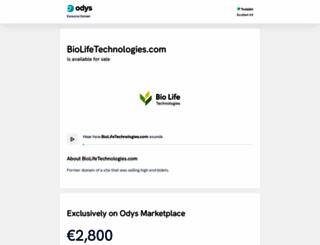biolifetechnologies.com screenshot