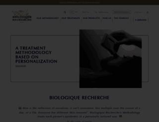 biologique-recherche.com screenshot