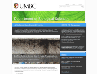 biology.umbc.edu screenshot