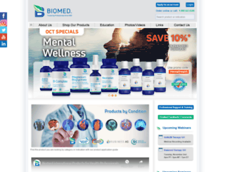 biomedicine.com screenshot