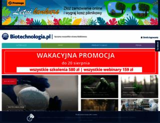 biotechnologia.pl screenshot