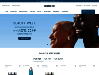 biotherm.com screenshot