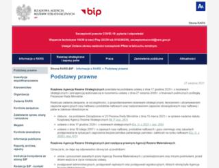 bip.arm.gov.pl screenshot