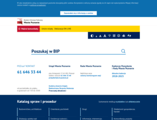 bip.city.poznan.pl screenshot