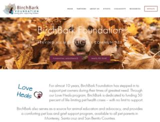 birchbarkfoundation.org screenshot