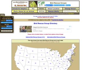 bird.rescueshelter.com screenshot