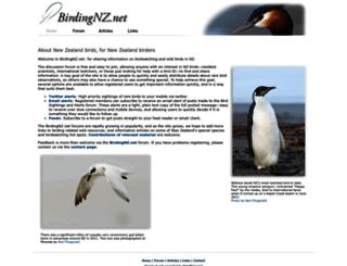 birdingnz.net screenshot