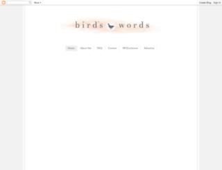 birdle.blogspot.co.uk screenshot